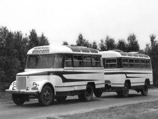 обои ПАЗ 651 + прицеп ПАЗ 750 фото