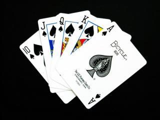 обои Самая высокая комбинация в покере фото