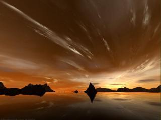 обои Небесное отражение фото