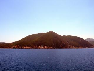 обои Вид на берега Тосканы из открытого моря фото