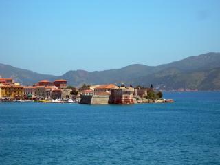 обои Курортный городок на берегу Тосканы фото