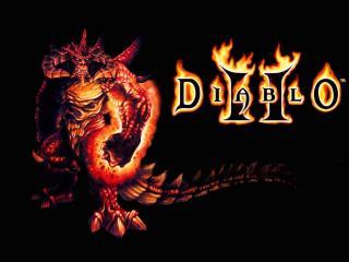 обои Diablo II огненые буквы фото