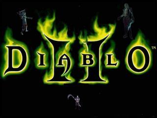 обои Diablo II горящие зелёным гонём фото