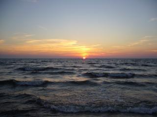 обои Закат на море фото