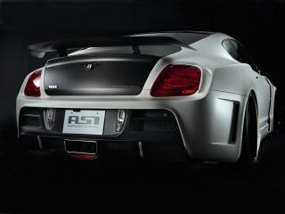 обои ASI Bentley Continental GT Tetsu GTR 2009 сзади черный фон фото