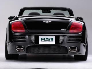 обои ASI Bentley Continental GTC 2008 сзади белый фон фото