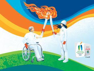 обои Паралимпийские игры передача олимпийского огня фото