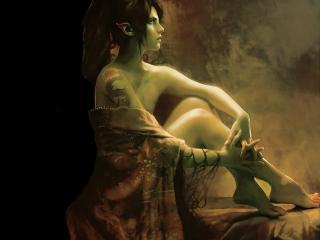 обои Задумчивая эльфийская девушка фото