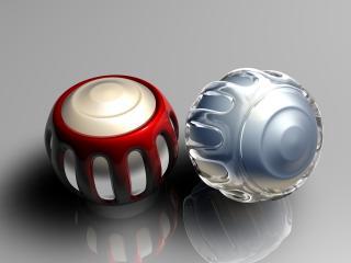 обои Красный и синий шарики фото