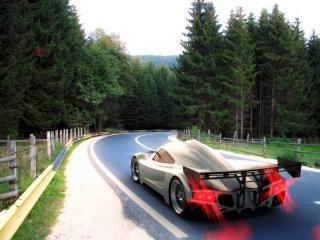 обои 2005 I2B Concept Project Raven Le Mans Prototype на крутом повороте фото