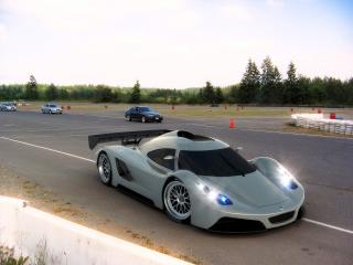 обои 2005 I2B Concept Project Raven Le Mans Prototype у обочины фото