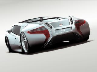 обои 2007 I2B Concept Reus сзади бочком фото