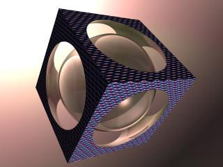 обои Сфера в кубе фото