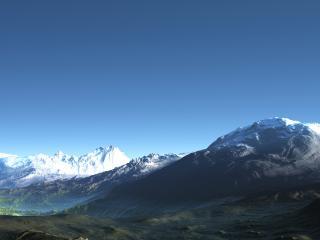 обои Вид на заснеженные горы фото