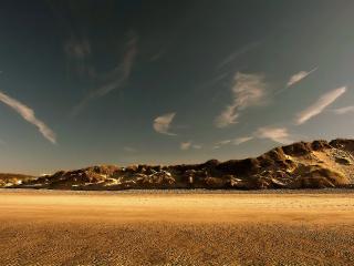 обои Горы в пустыне фото