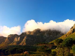 обои Вид на горные вершины фото