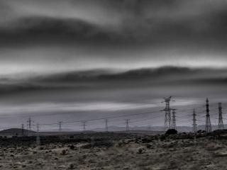 обои За городом в черно-белых тонах фото