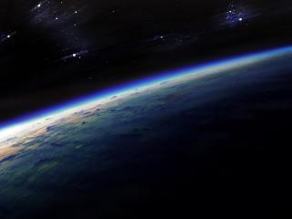 обои Взгляд на планету из космоса фото