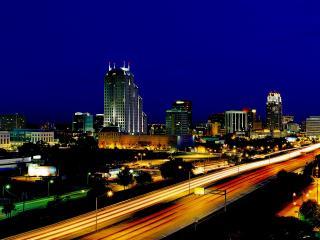 обои Ночные огни мегаполиса фото