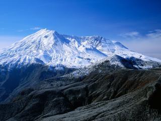 обои Снег на горных вершинах фото