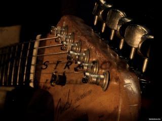 обои Гриф коричневой гитары фото