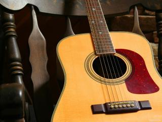 обои Классическая красивая гитара фото