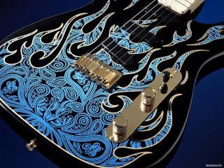 обои Очень красивая расцветка деки гитары фото