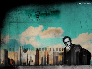 обои Доктор Хаус на фоне города фото