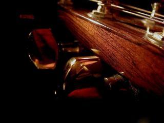 обои Колки на грифе гитары фото
