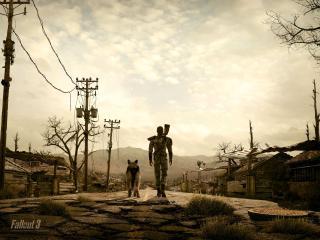 обои Fallout 3 - собака лучший друг человека фото