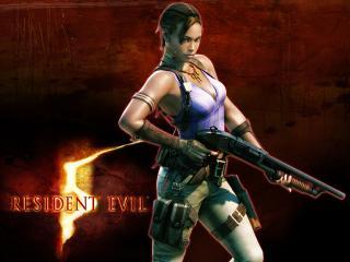обои Resident Evil 5 - девушка с помповиком фото