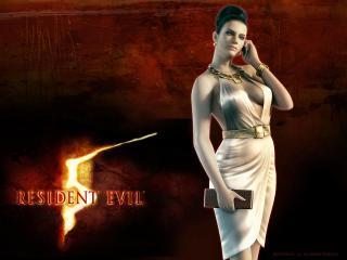 обои Resident Evil 5 - изящная девушка с кошельком и мобильником фото