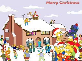 обои Симпсоны рождество фото