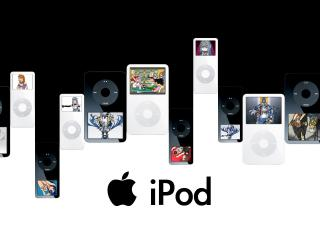 обои Много iPodов на черном фото