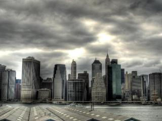 обои Вид с залива на Нью-Йорк фото