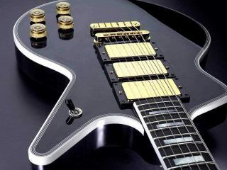 обои Чёрная гитара фото