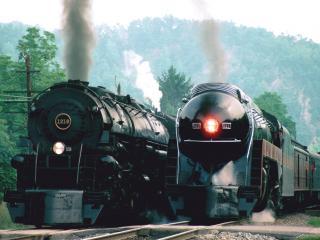 обои Старинные поезда фото