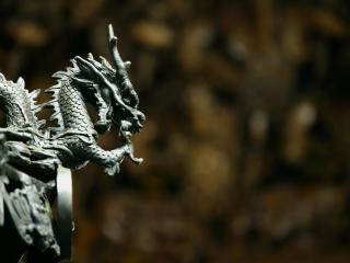 обои Скульптура Дракона фото