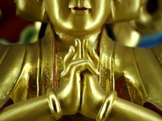 обои Будда крупным планом фото
