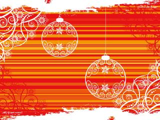 обои Новогодние шарики и узор фото