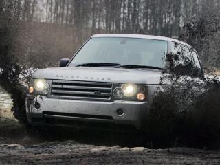 обои Range Rover преодолевает грязь фото