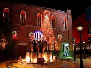 обои Улица на рождество фото