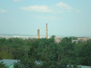 обои Вид на утренний город фото