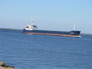 обои Карабль заход в гавань фото