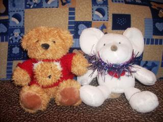 обои мышка и медвежонок плюшевый фото