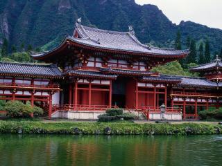 обои Китайский домик у реки фото