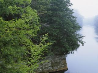 обои Река в степи фото