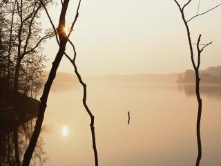 обои Вечерняя река фото