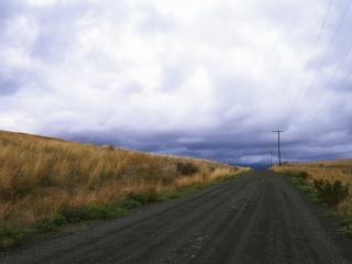 обои Дорога в деревню фото