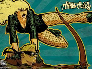 обои Green Arrow Black Canary фото